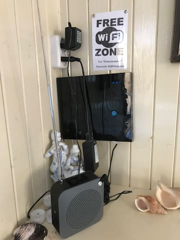 Wifi in every room. Easy to access.