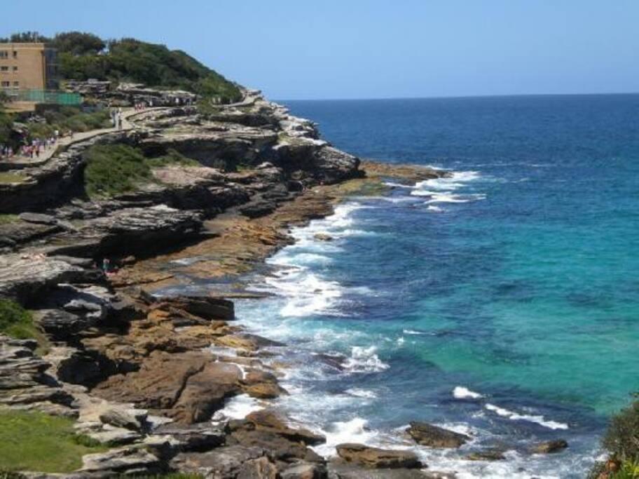 Situated on the Bondi to Coogee Coastal walk