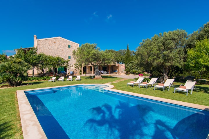 """Stunning Holiday Home """"Finca Rafal"""" with Garden, Pool, Terraces & WiFi; Parking Available"""