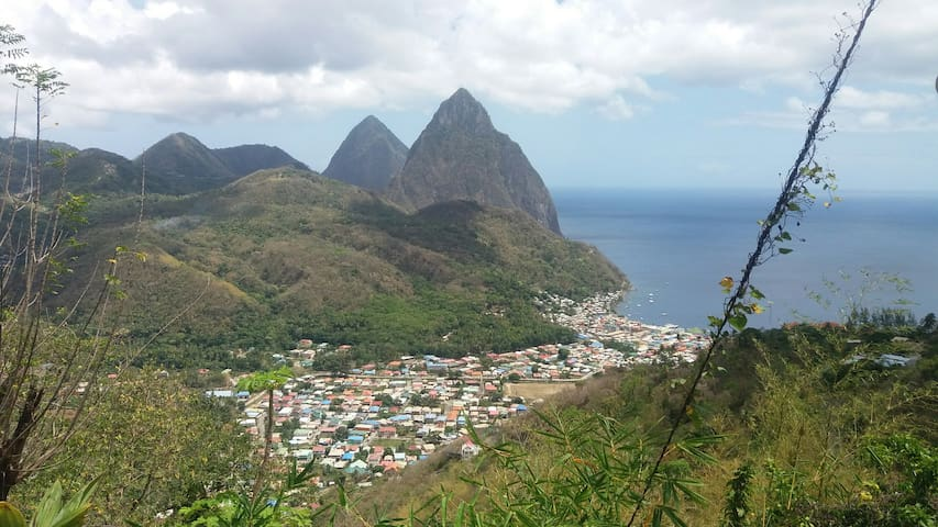 The majestic Pitons!!