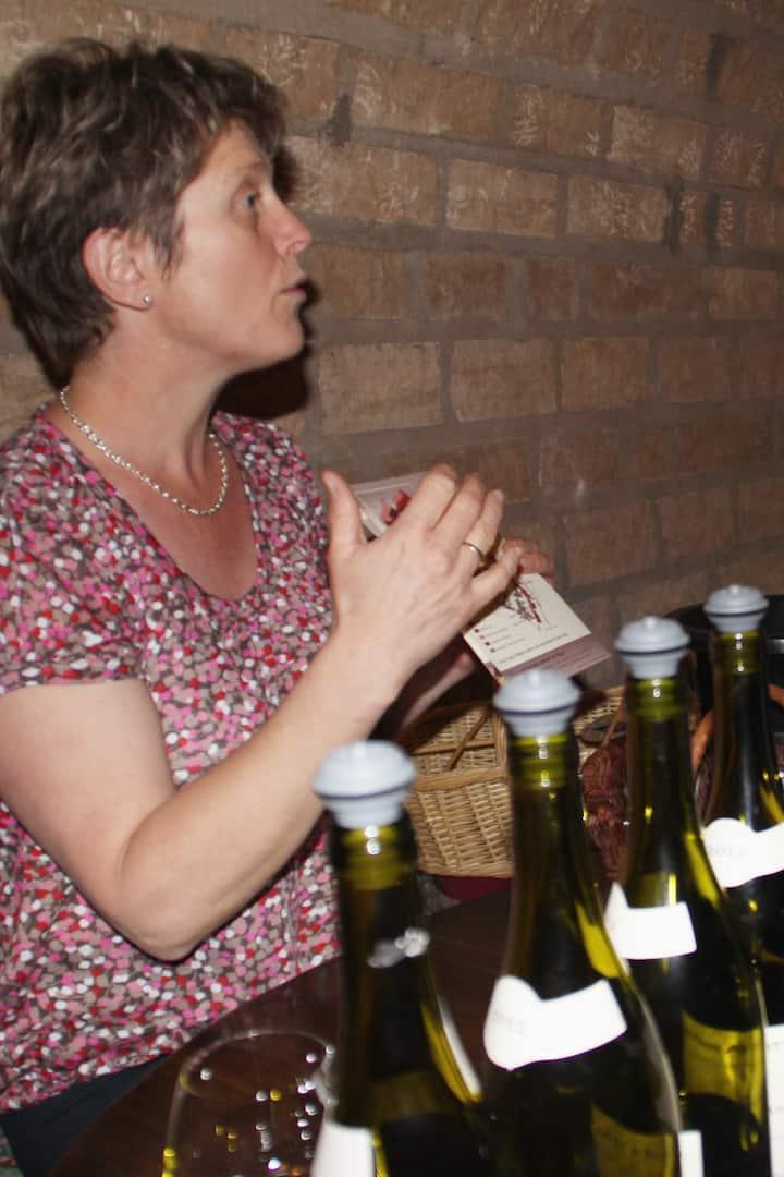 Wine maker explains her wines