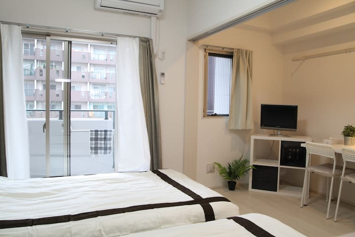 Brand new apt near HAKATA Port/WiFi - Fukuokashi - Pis