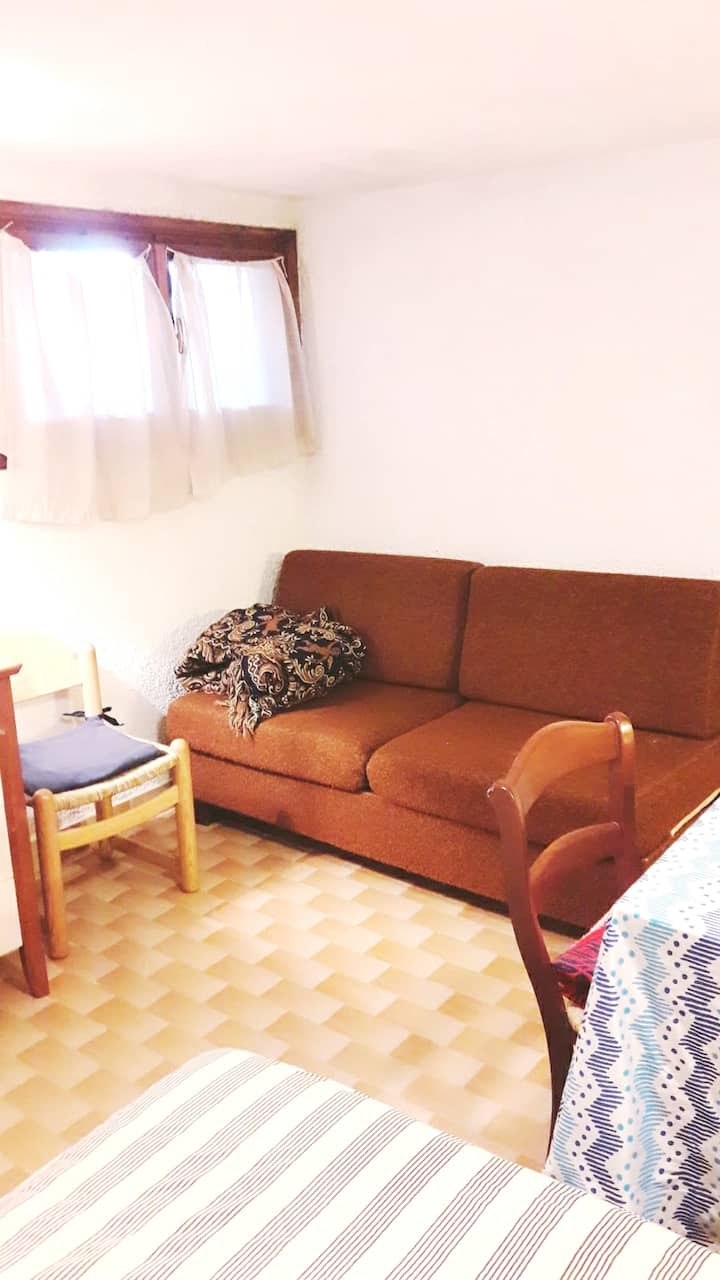Studio in Cesuna, with wonderful mountain view - 10 km from the slopes