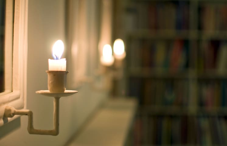 We use candles quite a lot. Here from the library.