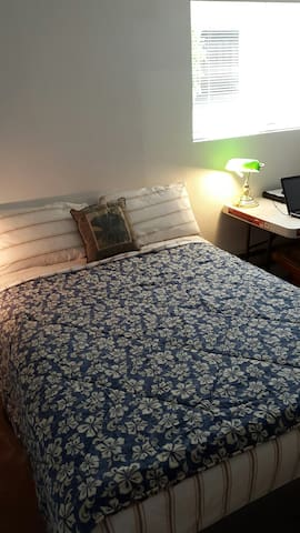 Full Size Bed and Dresser for Guest.
