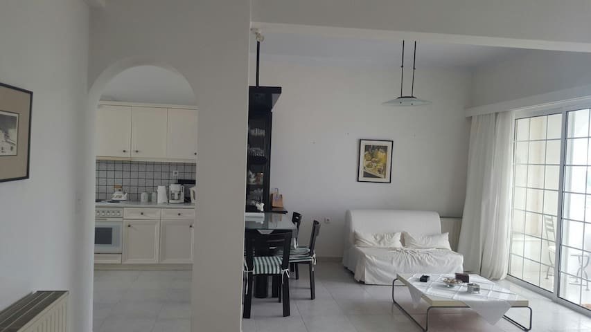 Big white appartment next to Church - Τήνος - Apartamento