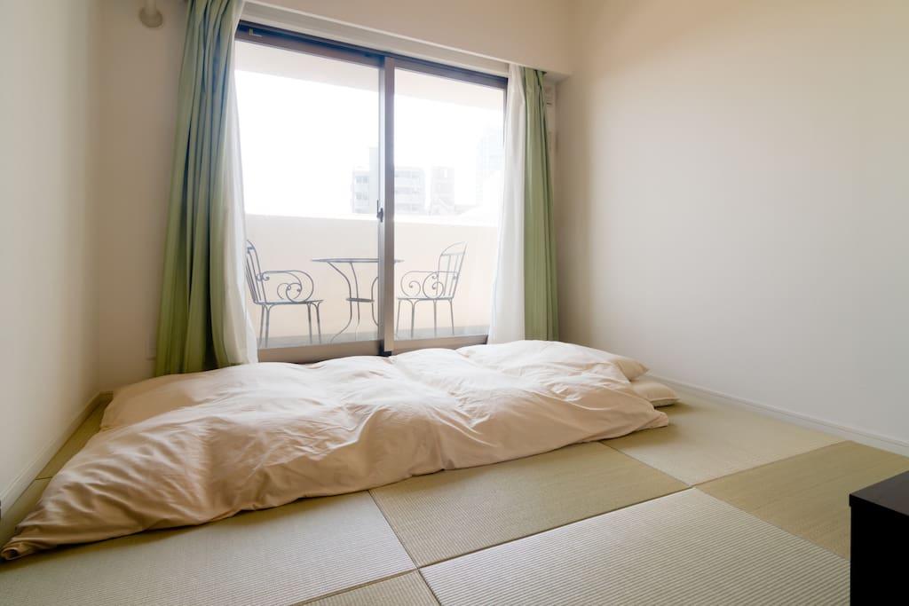 Japanese tatami room.