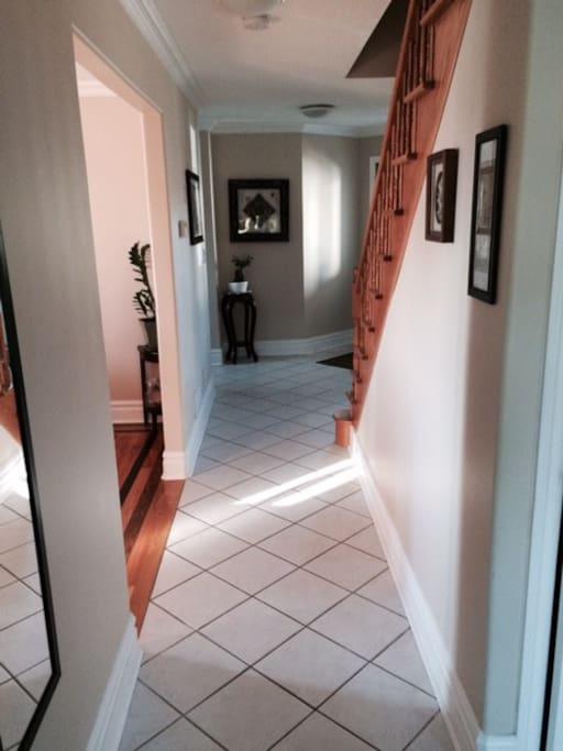 Hall leading to bedroom studio