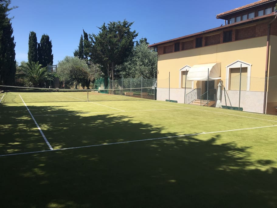 Tennis court and you can see the separate entrance to your apartment