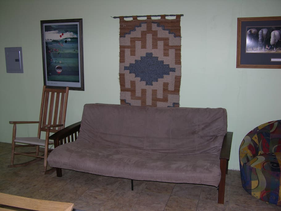 Futon couch...queen size.