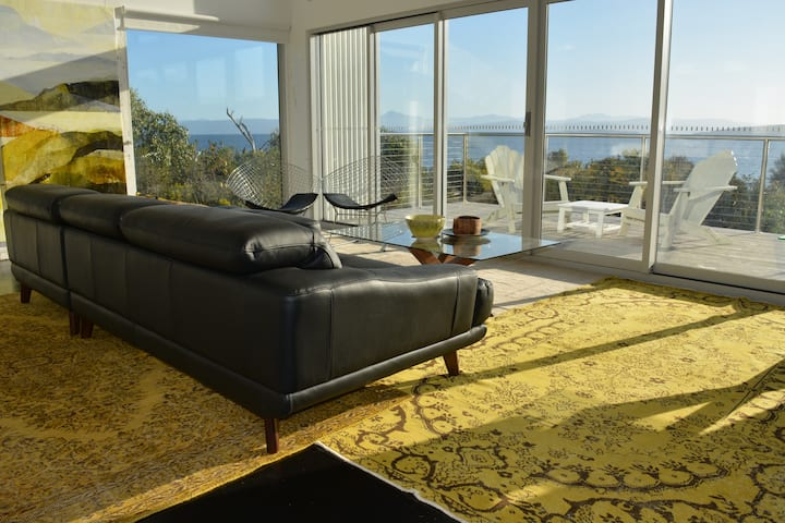 Arthouse Bruny Island waterfront luxury retreat