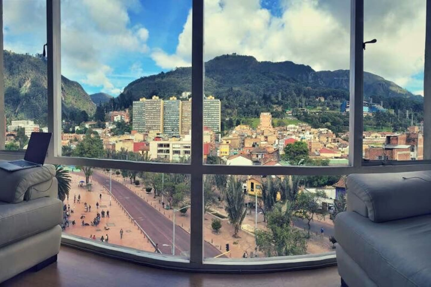 View from Living room, the best view in downtown Bogota!