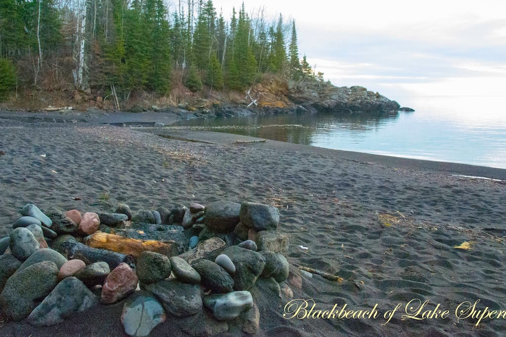 Romantic Only Private Black Sand Beach On Superior
