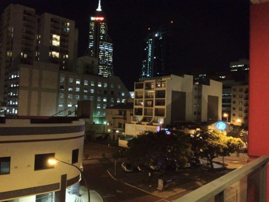 Night city view from Balcony
