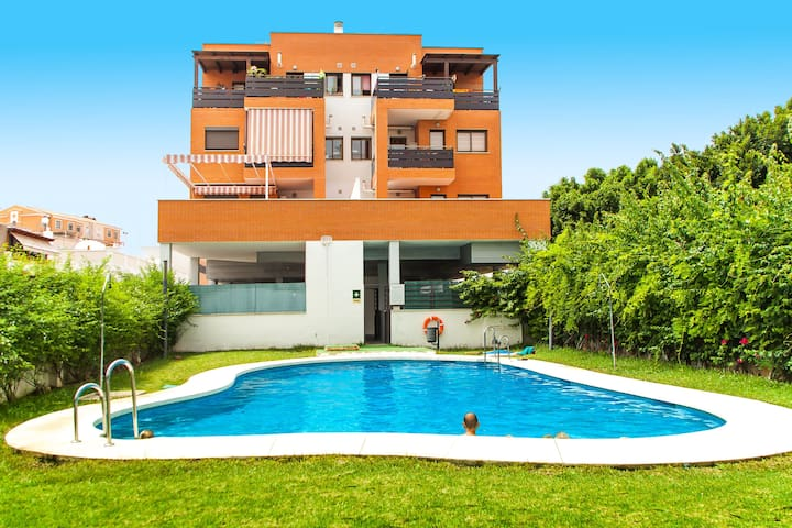 Ático terraza 6 plazas Piscina Park - Rincón de la Victoria - Apartamento