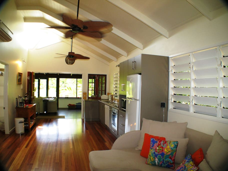 Lillypads Cottages - Living Area and Kitchen