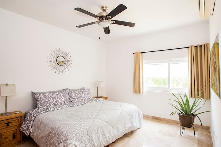Spacious second bedroom complete with your own personal A/C controls and fan!