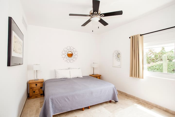 Giant third bedroom with personal A/C controls and fan