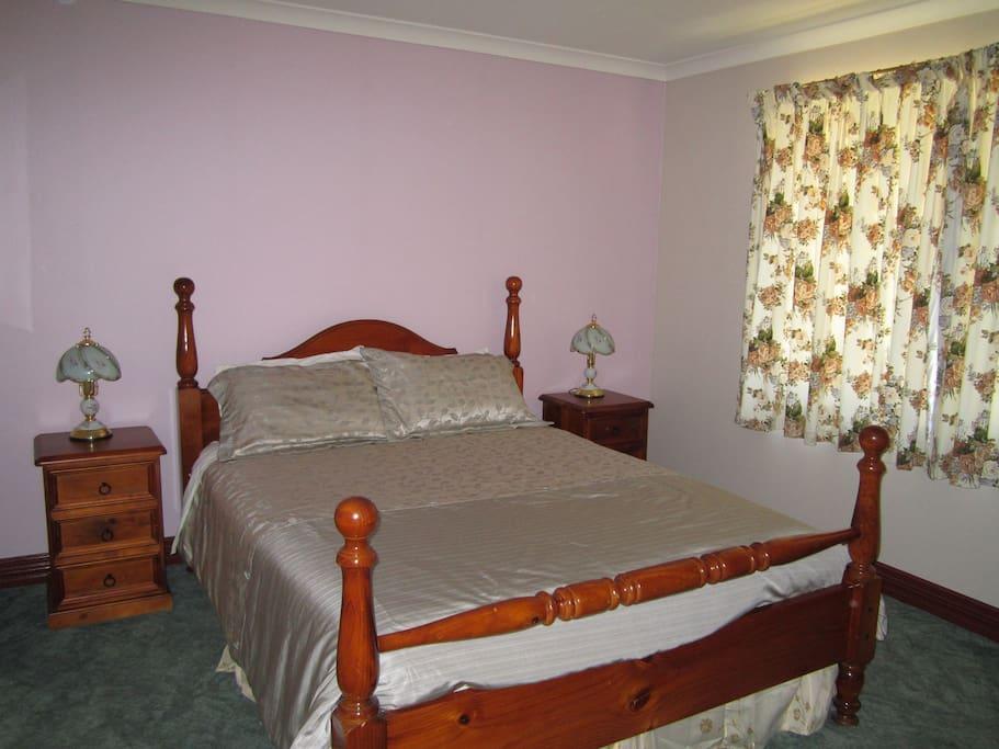 Bedroom 1 has queen bed
