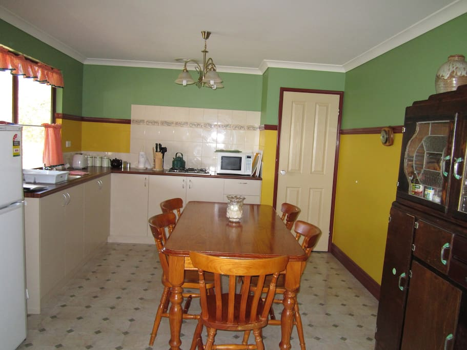 A large country kitchen
