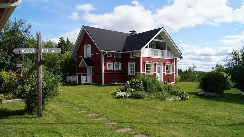 Large  house with sauna