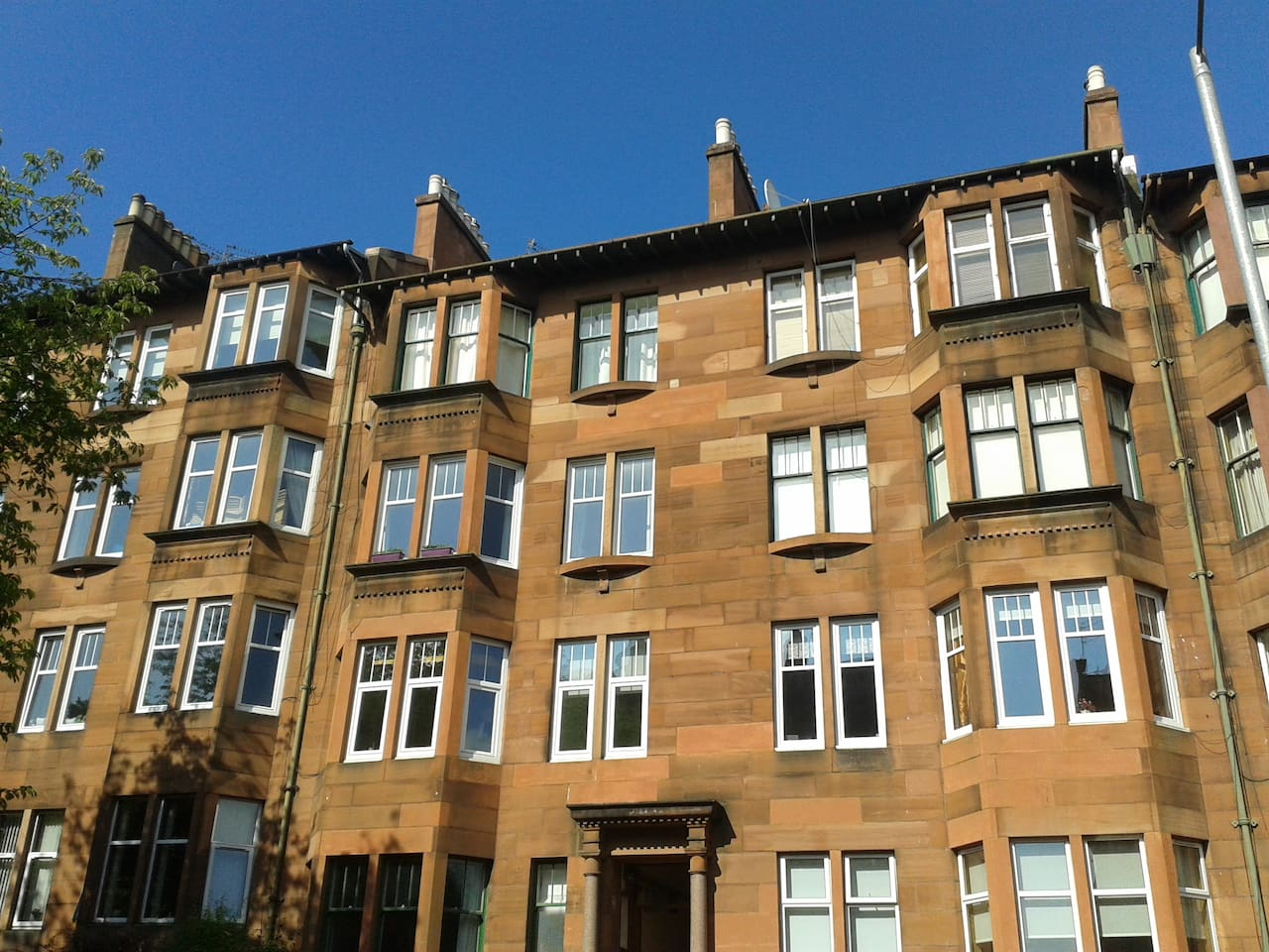 Tenement flat from the outside
