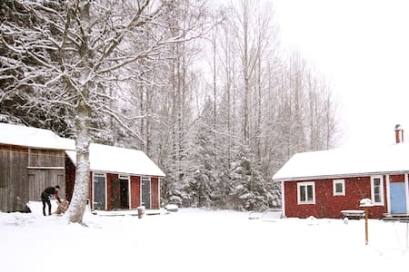 Swedish red house in the forrest - Dals-Ed Municipality