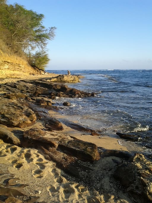 Kaimane Beach short distance walk