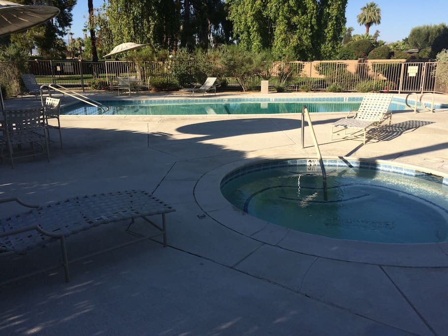 Pool and Jacuzzi (right outside the front door)