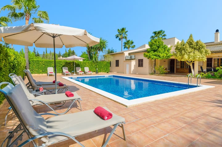 ES PASCOLET - Villa with private pool in Inca. Free WiFi