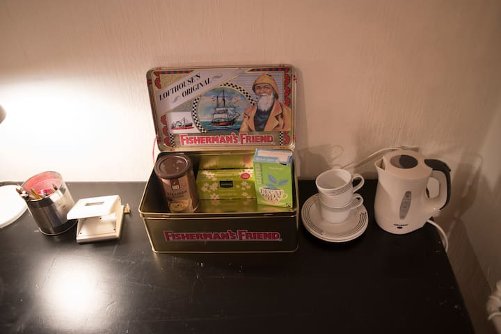 Make some tea, coffee or cocoa at your desk