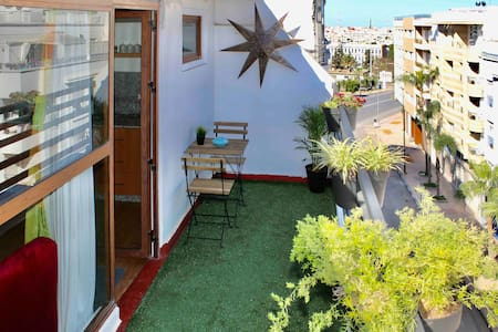 ☘[-50%] Rooftop Apt+Fast WiFi📍Agdal Avenue France