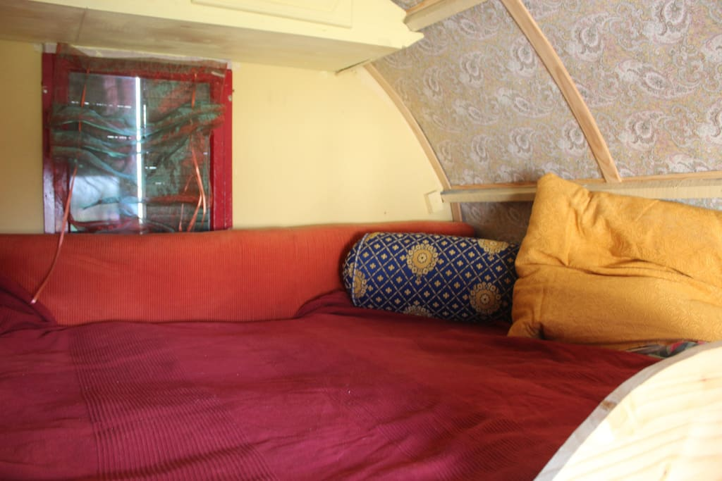 The spacious yet cosy bed inside