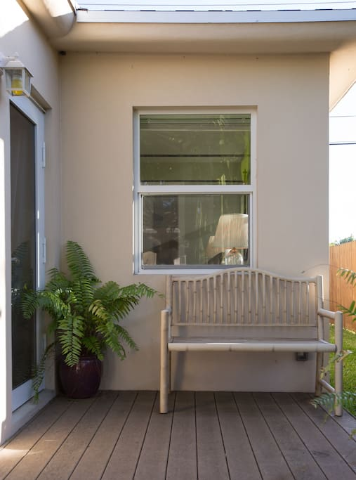 Enjoy the outside seating patio area