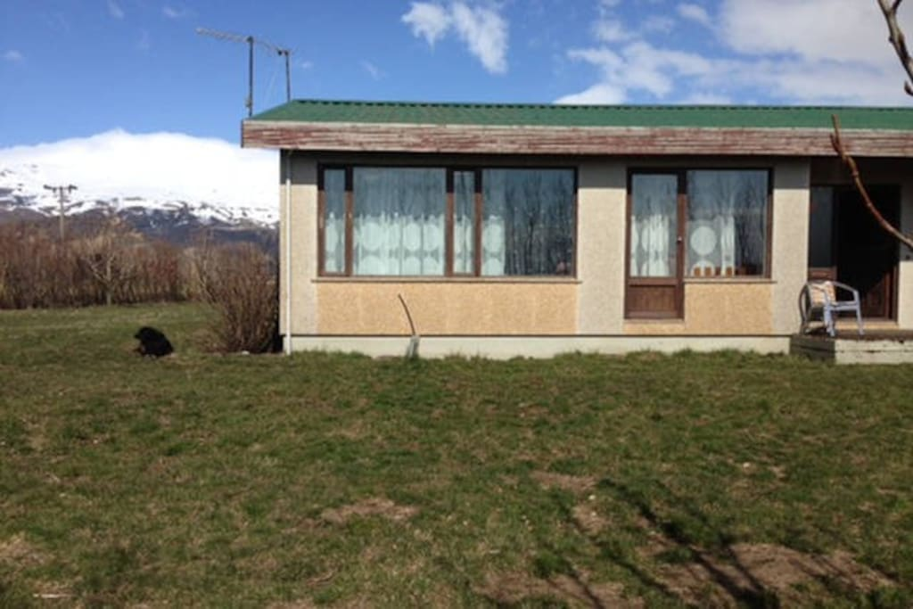 My house in front of Eyjafjallajökull