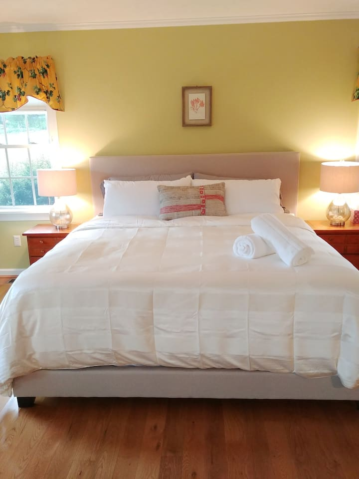 Your comfy king-size bed awaits!
