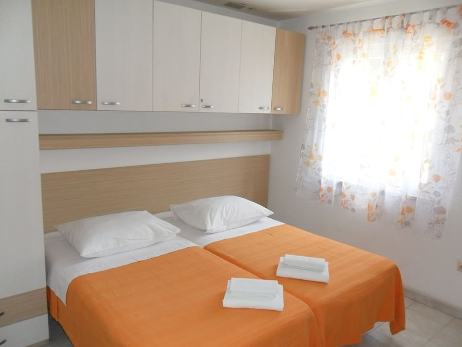 House consist of 4 identical studios with twin bed