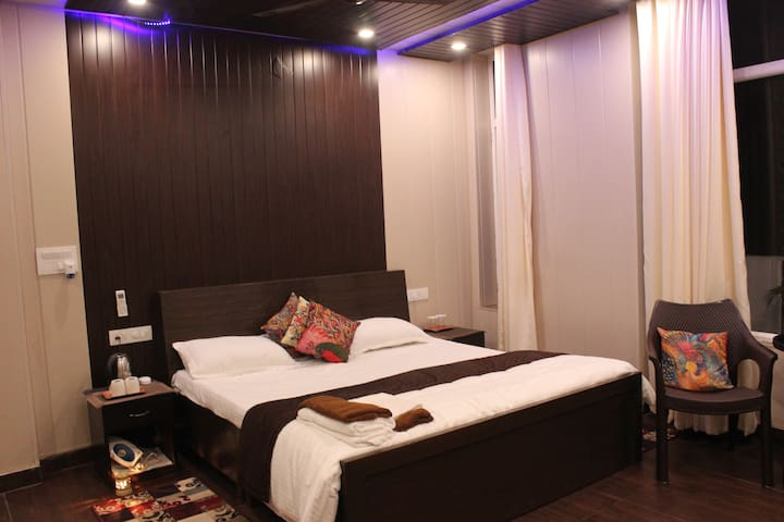 Div Estate:  Private room with Mussoorie view