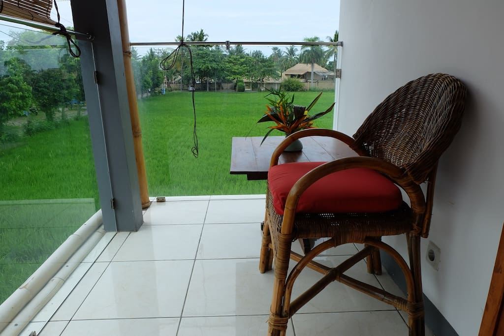 Veranda and view