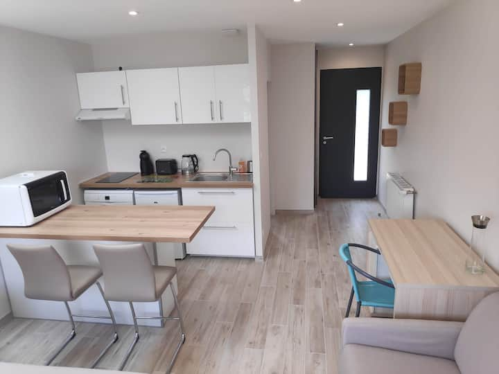 Studio neuf meublé indépendant 25 m² au calme