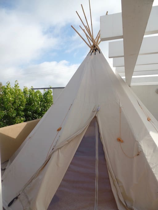 Welcome to your private tipi