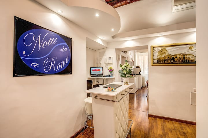 Room for 4 people at Notti a Roma B&B