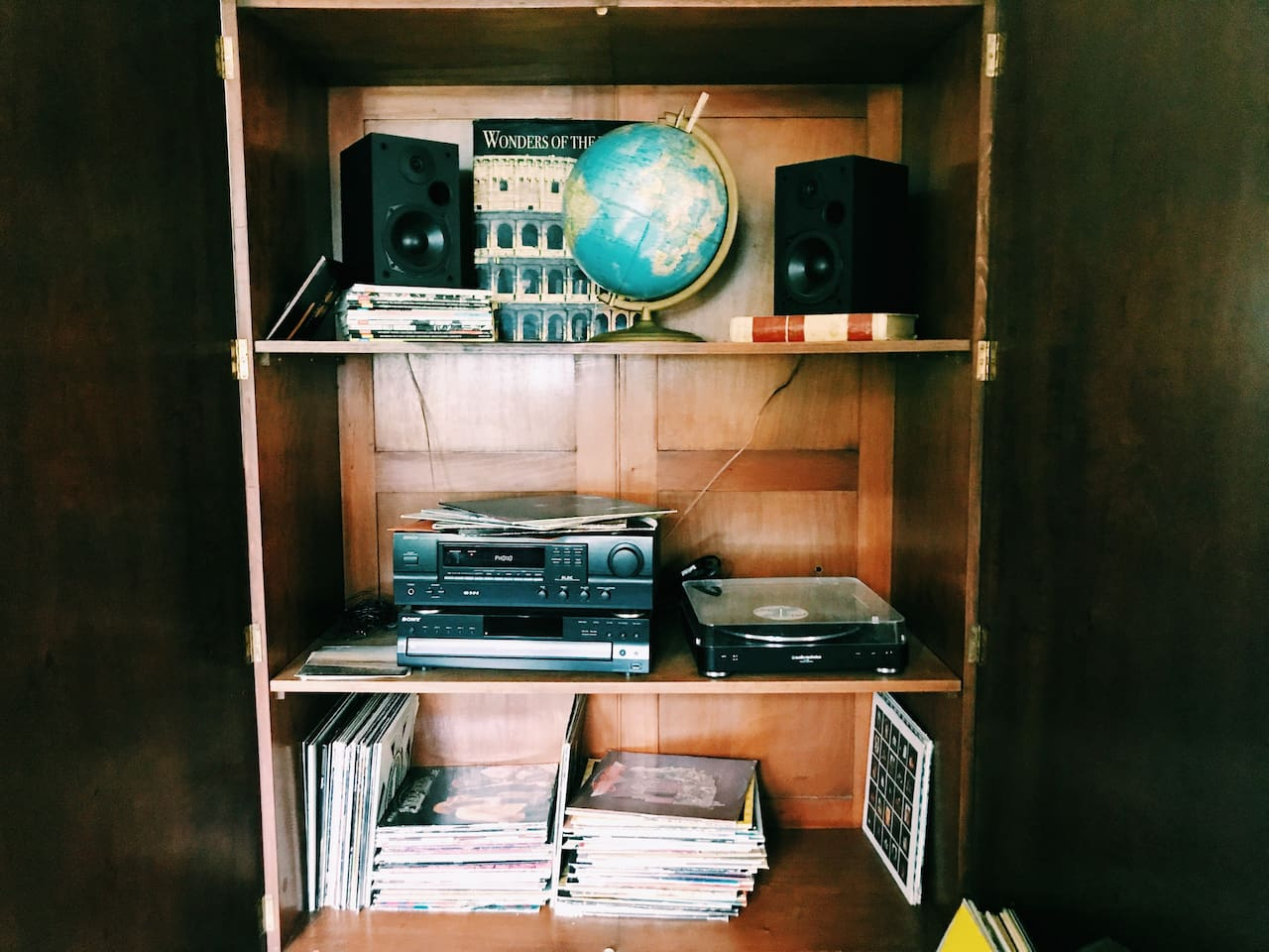 Living room record collections
