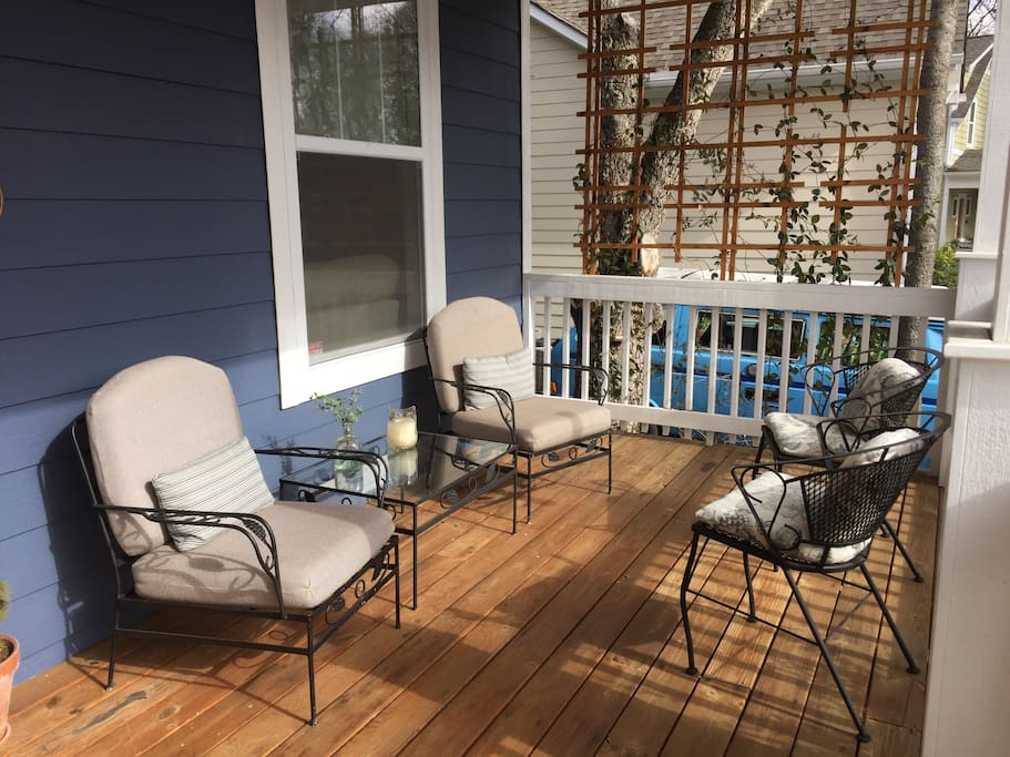 Front porch is house-width