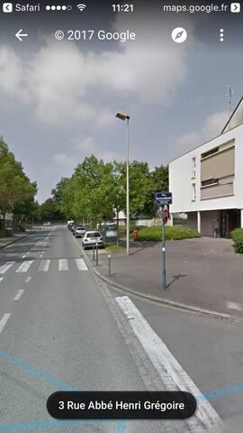T2 calme Poterie a 100 mètre du métro - Rennes - Daire