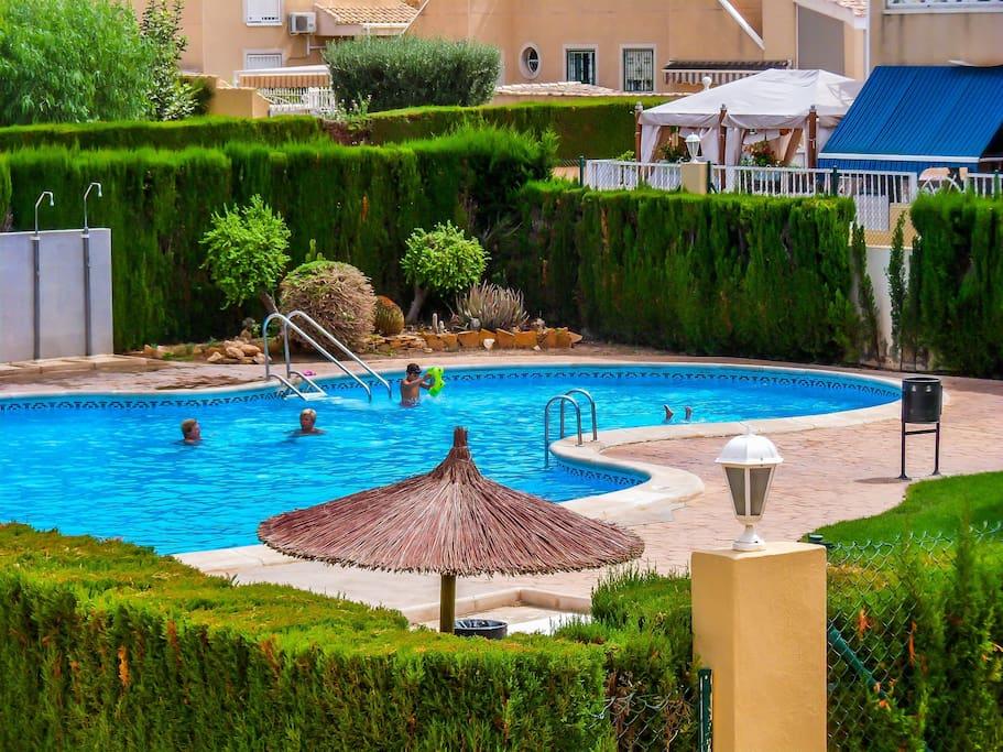 Main pool opposite house