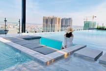 enjoy our romantic pool on 29th floor