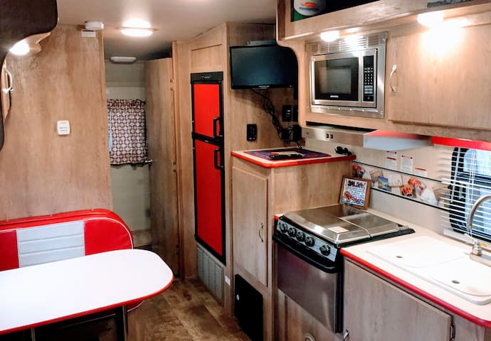 Zilker Glamping in the Ella Rose Retro Camper