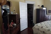 Door connecting two guest rooms from Girl's Room