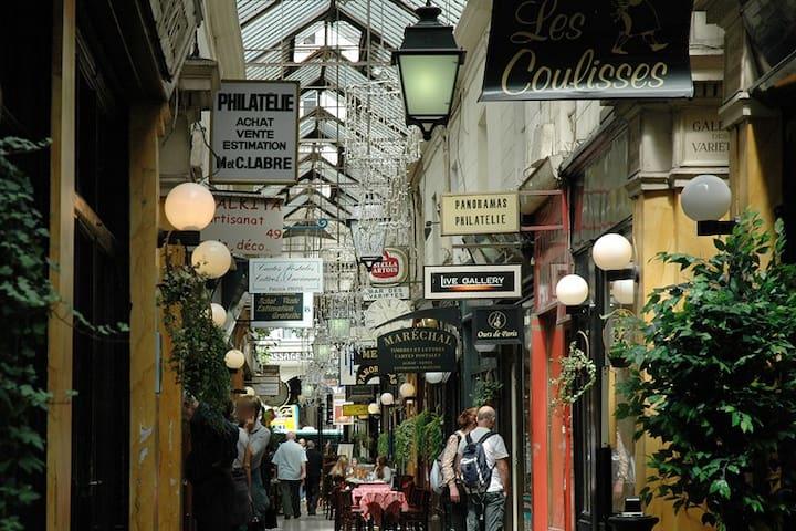 Arcades in famous Montmartre  area